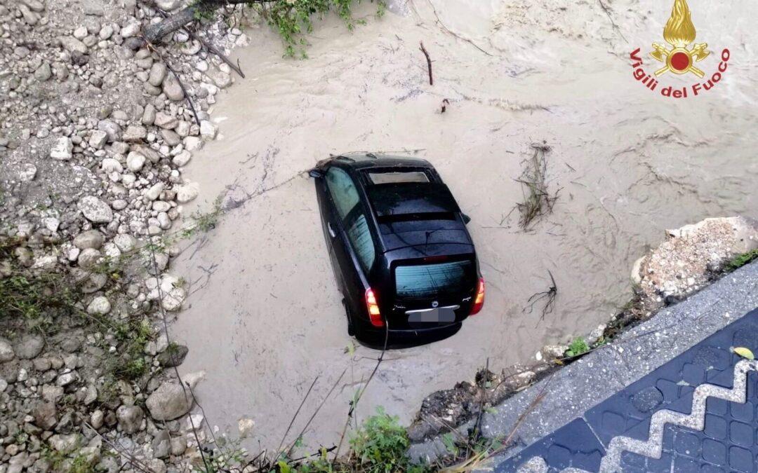 Frosinone: crollo di una porzione di ponte
