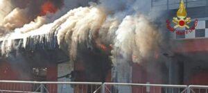 Frosinone: incendio in un kartodromo