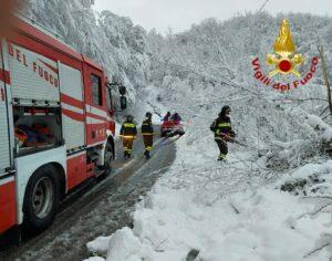 Rieti: interventi per intense nevicate