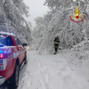 Rieti: interventi causa forti nevicate