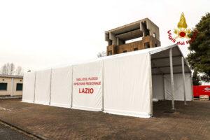 Roma: montaggio nuova struttura alla SFO di Montelibretti